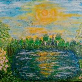 Весеннее озеро.