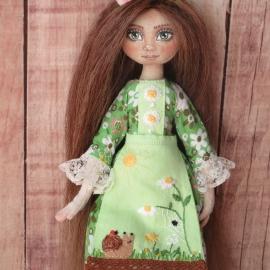 Текстильная кукла Весна