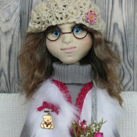 Текстильная кукла Алёнка