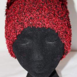 Шапка красная зимняя