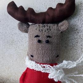 Текстильная игрушка Лосенок