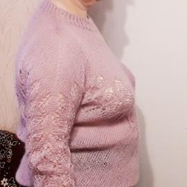 """Пуловер """"Пыльная роза"""""""