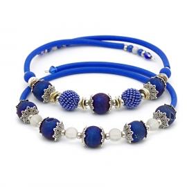 Колье-чокер синий