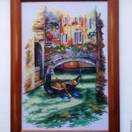 """Картина вышитая крестиком """"Венеция"""""""