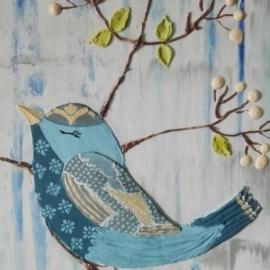 Панно в детскую «Птичка»