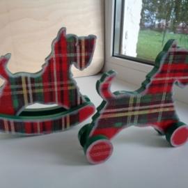 Деревянная игрушка Собака качалка, каталка