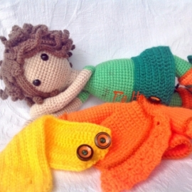 Кукла вязанная. Мягкая игрушка.