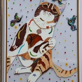 """Карина"""" Кошка с бабочкой"""""""