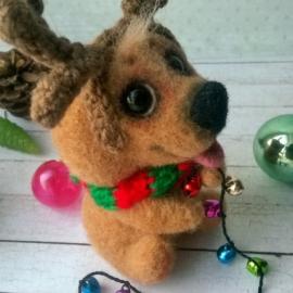 песик- рождественский олень