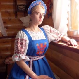 Льняной сарафан Василиса Премудрая