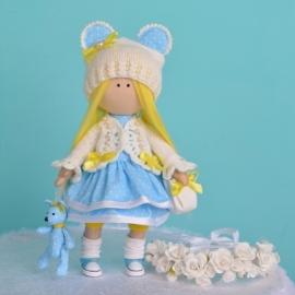 Авторская интерьерная кукла Бэлла