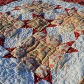 """Детское лоскутное одеяло """"Розовый сад"""""""