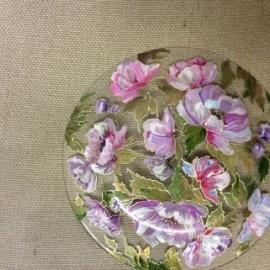 Блюдо Розовые Пионы