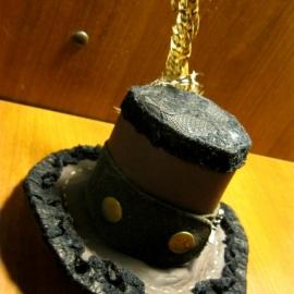 Шляпка-цилиндр (немного стим-панка)