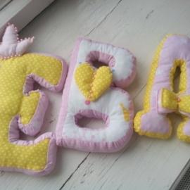 Буквы подушки имя