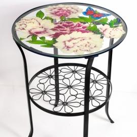 Журнальный столик с росписью