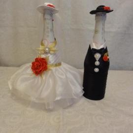 """Одежда для шампанского """"Жених и Невеста"""""""