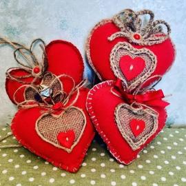Сердечки-игольницы