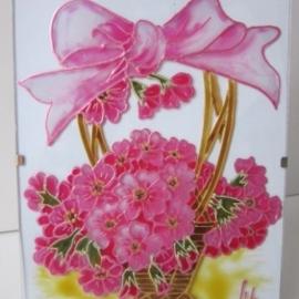 """Оригинальная открытка """"Розовый букет"""""""