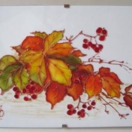 """Оригинальная открытка """"Осенний букет с ягодами"""""""