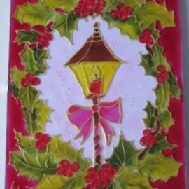 """Рождественская открытка """"Волшебный фонарик"""""""