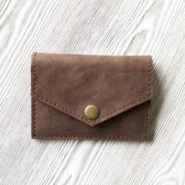 """Кошелек для мелочи, пластиковых карт и банкнот """"Лесной орех"""""""