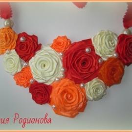 """Ожерелье """"Розы"""""""