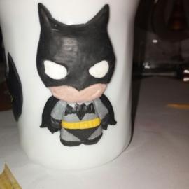 Супергеройская кружка (полимерная глина)
