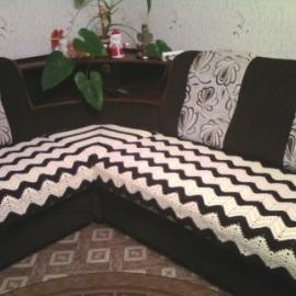 Плед на угловой диван(крючок)