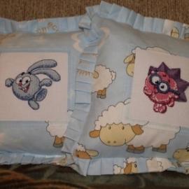 Подушки для мальчика. Зайка Крош и Ежик.