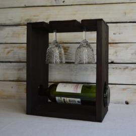 Подставка для бутылки и фужеров