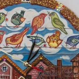 Часы «Птицы в городе»