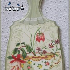 """Досточка """"чашка с цветами"""""""