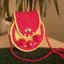 сумка розовая