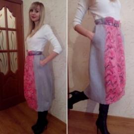 """Валяная юбка """"Тюльпан"""""""