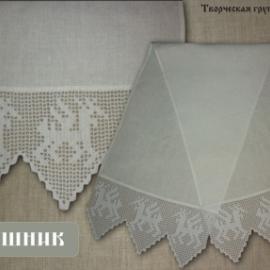 """Рушник льняной """"Олени"""""""