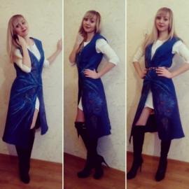 Валяный жилет-платье