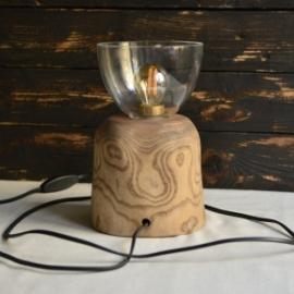 Светильник из массива ясеня (ночник)