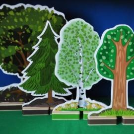 Деревья. Декорации для настольного театра.