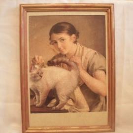 Кружевница с котом