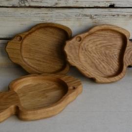 Тарелки и миски из дерева (дуба) для детей и взрослых (экопосуда)