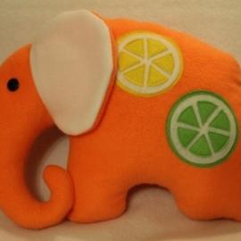 Подушка-игрушка. Слоник. Апельсиновый