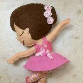 """Фетровая куколка """"Балерина"""""""