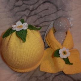 Шапочка и шарф «Лимон»