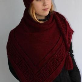 комплект шапка+ шаль