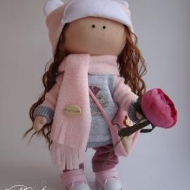 Кукла Маша в шапочке мишки