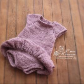 Боди с юбочками для фотосессии новорожденных