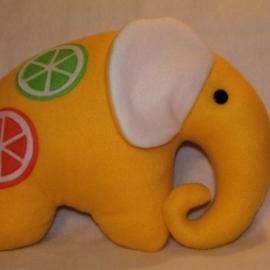 Подушка-игрушка. Слоник. Лимонный